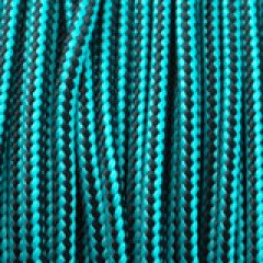 Type II neon turquoise black stripes