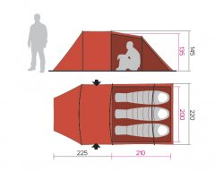 Hannah Shelter 3 dimensiuni