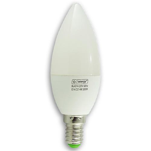 Bec Led 4W, 220V, E14, lumina alba calda