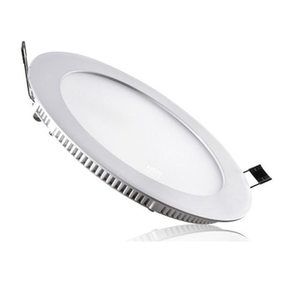 Panou LED 18W, rotund, încastrabil, lumină albă rece