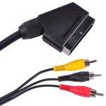Cablu SCART - 3 RCA 1.5M