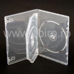 Carcasa 3 DVD clear