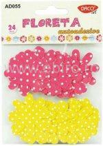 Accesorii craft-Floreta autoadezive-textil Daco