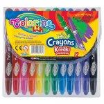 Creioane colorate cerate Colorino