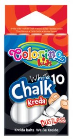 Creta alba 'fara praf' 10buc/set - Colorino