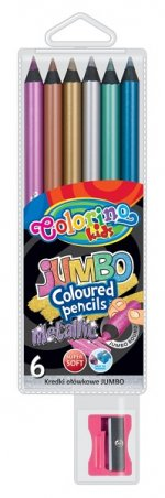 Creioane colorate Jumbo metalizate 6/set