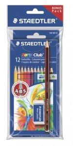 Creioane colorate NORIS 12/set + creion + radiera