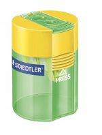 Ascutitoare dubla plastic + suport Staedtler
