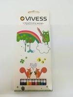 Creioane colorate Vivess 12c