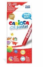 Creioane cerate Carioca Oil Pastel Maxi, 12 buc./cutie