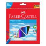 Creioane Colorate Triunghiulare cu Ascutitoare Eco Faber-Castell 24c