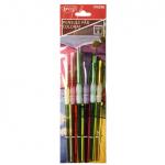 Pensula set 6 par sintetic Colorat DACO