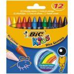 Creioane cerate 12 culori Bic