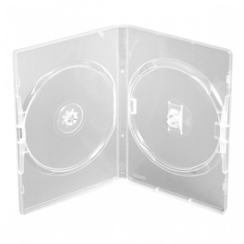 carcasa dvd clear dubla