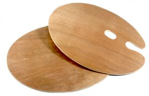 Paleta acuarele lemn