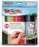 Creioane colorate Toy Color 24 culori