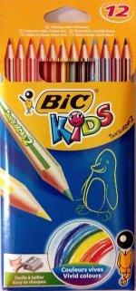 Creioane colorate BIC 12 culori