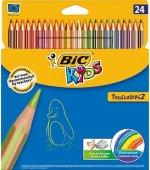 Creioane colorate BIC 24 culori