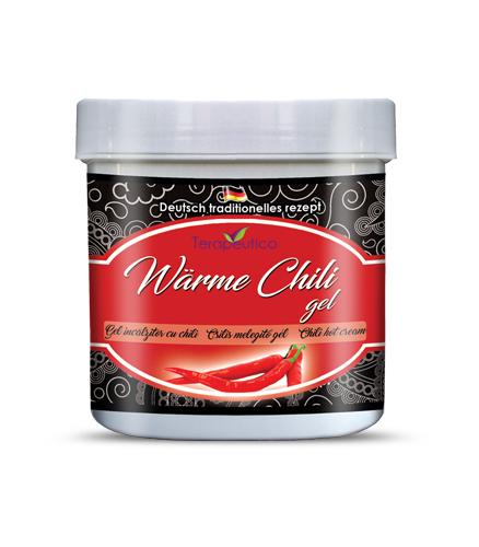 Gel de incalzire cu extract de Chili - 250ml