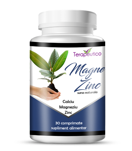 Magne Zinc contine magneziu, calciu zinc 30cp