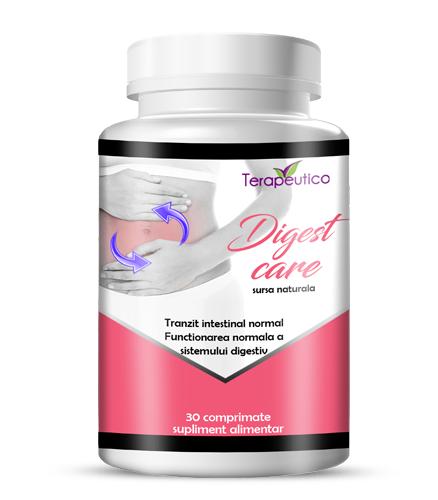 Digest Care pentru indigestie, balonare, crampe abdominale 30 cp