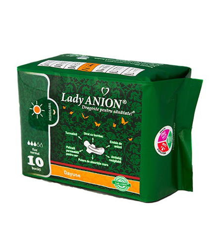 Absorbante Lady Anion utilizare de zi flux normal 3p - 10 buc.
