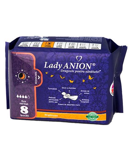 Absorbante Lady Anion pentru noapte flux normal 4p - 8 buc.