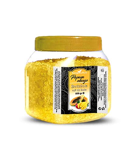 Sare de baie cu ulei de Papaya si Mango - 800gr