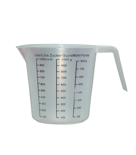 Cana gradata din plastic de la 100 ml pana la 1000 ml
