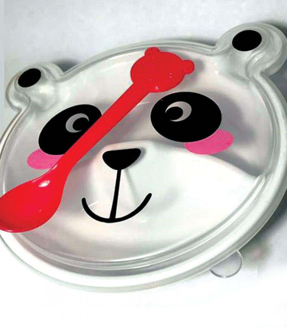 Caserola cu lingurita si capac pentru alimente, ideal pentru copii