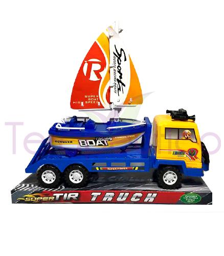 Camion cu barca velier