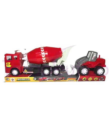 Camion betonier si excavator