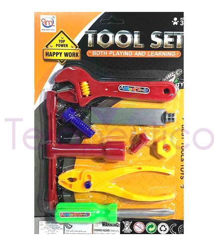 Set cu 8 unelte din plastic