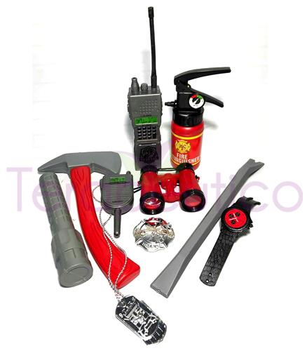 Set pompier cu accesorii