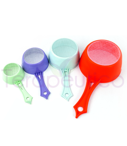 Set 4 strecuratori plastic pentru ceai