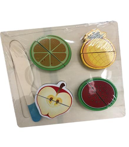 Puzzle lemn cu fructe