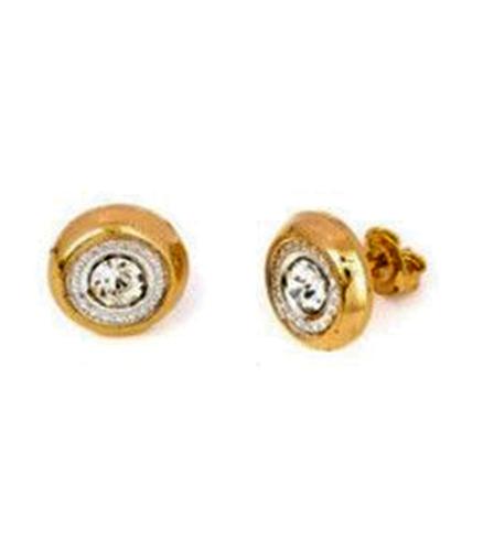 Cercei placati cu aur 18K si pietre Zirconiu
