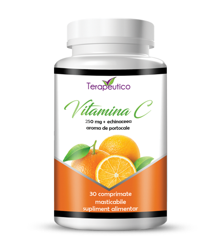 Vitamina C 250mp + echinaceea 30 cp