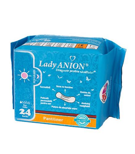 Absorbante Lady Anion zilnice pentru flux redus 1p - 24 buc.