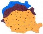 Sablon harta Romaniei 1buc