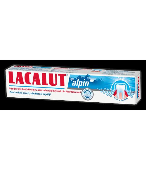 Pasta de dinti cu sare minerala Lacalut Alpin 75ml