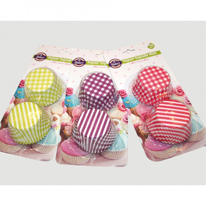 Set forme hartie cupcakes/muffins 30 buc/set