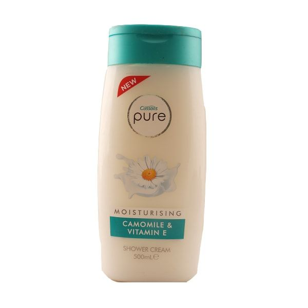 Cussons Pure Moisturising Camomile & Vitamin E gel de dus crema 500ml