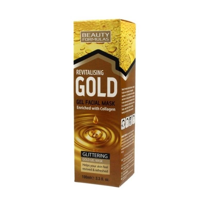 Beauty Formulas Gold Gel Mask masca revitalizanta pentru fata cu colagen 100ml