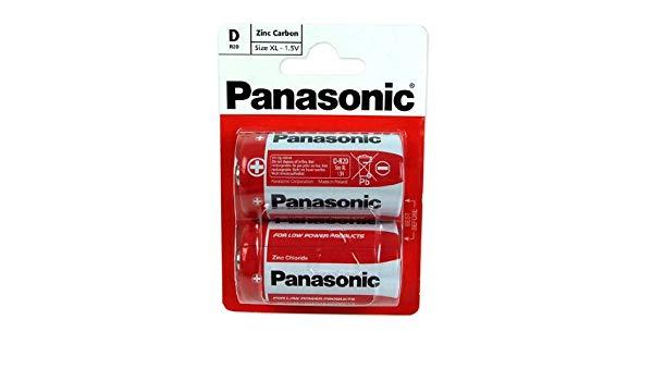 Panasonic D 2  R20-1.5V  2buc/set  baterii zinc carbon