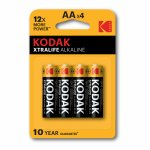 Kodak Xtralife Alkaline AA baterii 1.5v  4 buc /pachet