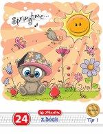 Herlitz Premium Caiet A5 24 file Tip I, motiv Cute Animals
