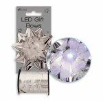 XMAS Set funda cu led multicolor & panglica pentru cadouri argintiu metalizat 5mm