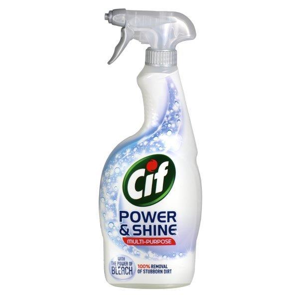 Solutie multi-suprafete cu clor spray Cif Power & Shine 700 ml