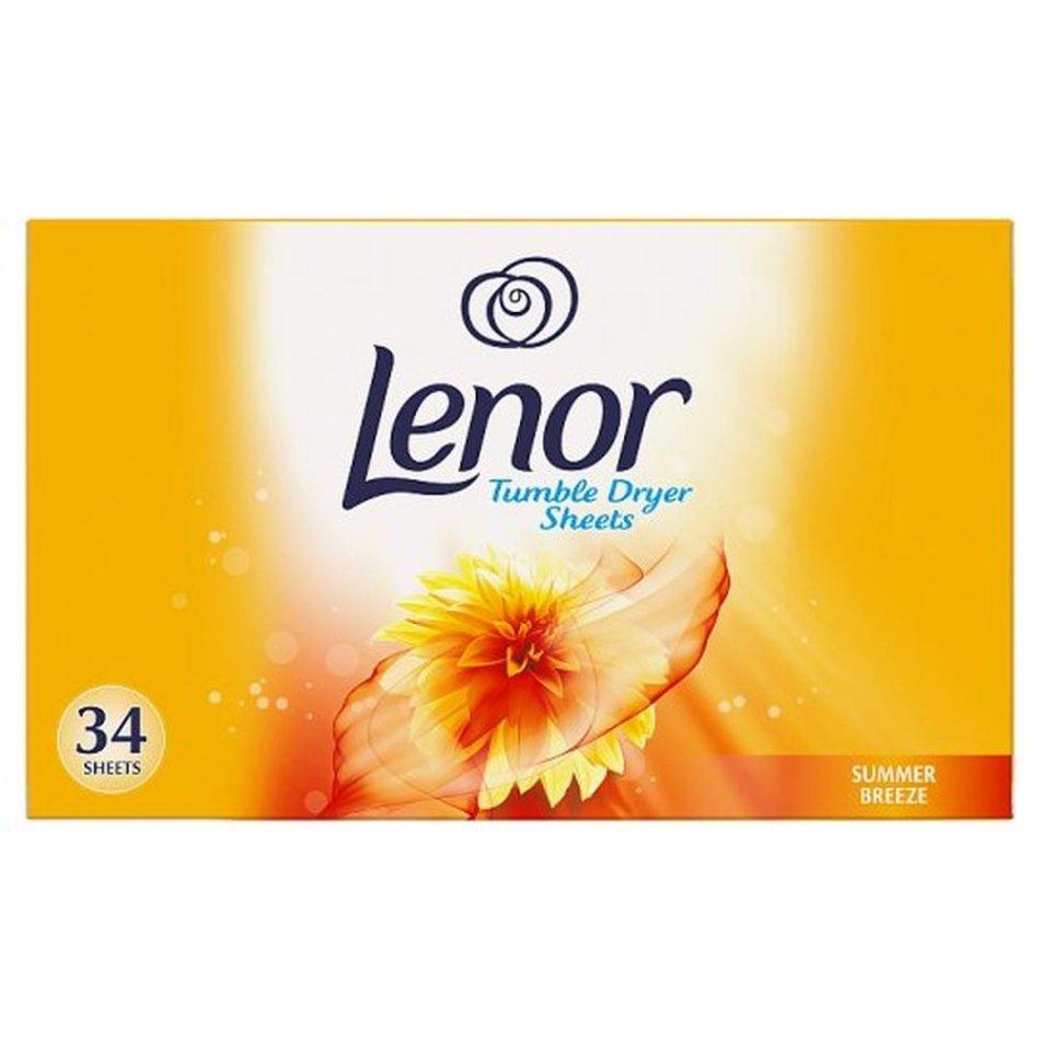Servetele parfumate Lenor Summer Breeze, pentru uscator rufe 34 buc